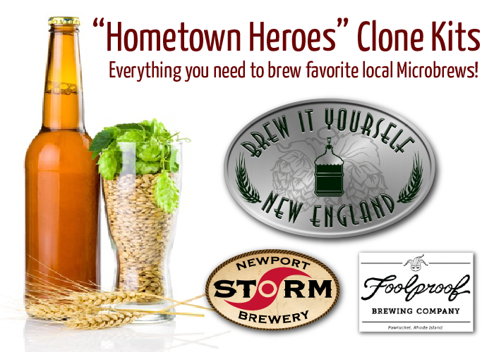 Hometown Heroes Homebrew Clone Kits at Brickyard Wine and Spirits Barrington